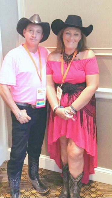 My husband John and I in Nashville RepFest 17